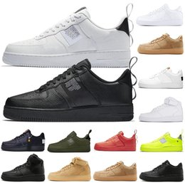 Nike air force 1 AF1 One 1 Dunk Zapatos casuales para hombre Negro Blanco Hombres Mujeres Zapatillas Skateboarding Unos High Low Cut Wheat Brown