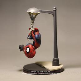 2019 figurine di raccolta anime Marvel Avengers 14cm Spider Man Scattare foto Action Figure Modello Anime Mini Doll Decoration Collection Figurine Toys Modello figurine di raccolta anime economici