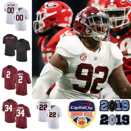 08cc48c11a1 Custom 2019 Alabama Crimson Tide Football Jerseys Men Women Youth Size S -  4XL 5XL Devonta Smith Henry Ruggs Quinnen Williams Tagovailoa