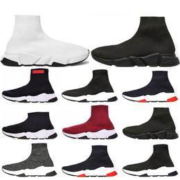 mulheres botas baixas venda Desconto Balenciaga Hot sale 2019 Speed Trainer Marca de Luxo Sapatos vermelho cinza preto branco Flat Clássico Meias Botas Sapatilhas Mulheres Formadores tamanho Runner 36-45