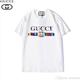 1c4d5c417e4 GUUi D222  2019 New Cool Color Letter Print T-Shirt Fashion Personality  Breathable mens designer t shirts