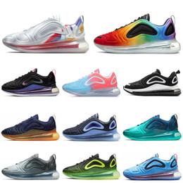 Scarpe arancioni al neon online-Nike Air Max 720 Shoes Scarpe da corsa da uomo Be True Pride Iridescent Mesh Fuel Arancione Obsidian Spirit Teal Volt Neon Donna Mens Sneaker Sport Sneakers 36-45