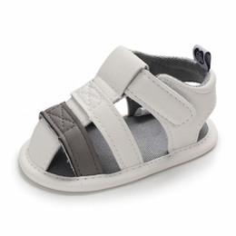 2025d9e8f94a3 Été bébé garçon mignon et beau tissu de cuir respirant anti-dérapant mixte  couleur enfant sandales de jardin à semelle souple