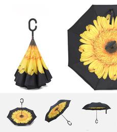59d965038 Sunflower umbrella online shopping - C Hook Hands Umbrellas High Quality  Windproof Reverse Folding Double Layer