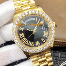 full rhinestones watch Coupons - Iced out Watch Full Diamond Watch 2836 Automatic 41MM Gold Mens Watches Silver Waterproof 316 Stainless Steel Big Diamond Zircon