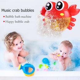 2019 pala de plástico de playa Bebé Baño Juguete Burbuja Cangrejos Bebé Burbuja Máquina Divertido Música Cangrejos Música Baño Fabricante Juguetes de natación