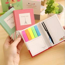 livros de bolso chineses Desconto Torre criativa Hardcover Combine Memopad Notepad Papelaria Diário Notebook Escritório Escola Suprimentos Com Caneta