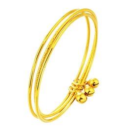 brazalete fino de oro Rebajas Comercio al por mayor de joyería de la marca de oro delgado 2 mm Pulseira brazalete brazalete de alambre de oro dubai pulsera para mujeres niñas 3 unids / lote