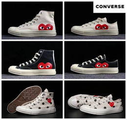 f65b991f462 2019 Skate Shoes 1970s Classic Canvas Casual Play Jointly Big Eyes High Top  Dot Heart CDG Wmens Men Fashion Designer Sneakers 35-45