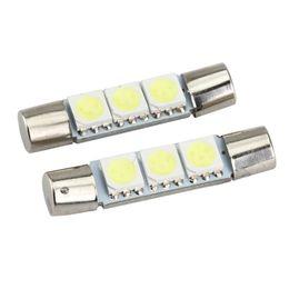 20x 29mm 3SMD LED Fuse Car Vanity Mirror Light Sun Visor Bulb White Practical