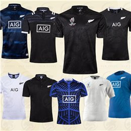 jersey de rugby ao atacado Desconto 2019 2020 Copa do Mundo Noruega camisa de rugby maori KIWIS 19 20 Copa do Mundo Curto formação manga terno de rugby camisa tamanho S-5XL
