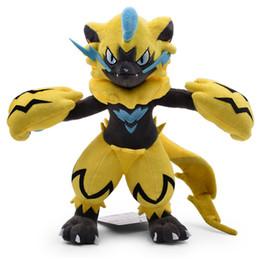 Bambola di 27cm online-Vendita calda 10.5inch 27cm Zeraora Pikachu peluche bambola di pezza giocattolo per i bambini migliori regali di festa