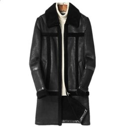 2019 le giacche di pecora di lana uomini Real Sheep Shearling Cappotto di Pelliccia Giacca Invernale Uomo 100% Lana Cappotti di Pelliccia Maschile Caldo Giacche di Pelle Plus Size Chaqueta Hombre MY1692 sconti le giacche di pecora di lana uomini