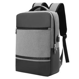 4501f2e39d6af 2018 männer multifunktions Wasserdichte Reise Rucksäcke USB Aufladung Große  Kapazität Laptop Umhängetasche Korean College Student Bag auf verkauf