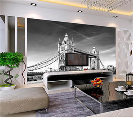 Argentina Tamaño personalizado 3d foto wallpaper sala de estar cama habitación mural London tower bridge retro imagen sofá TV telón de fondo papel tapiz no tejido etiqueta de la pared cheap weaves london Suministro