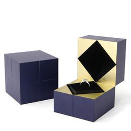 Creative Rubik's Cube Bague Boîte Cadeau Cadeau Personnalisé Boîte D'emballage Proposition Montre Blanc Emballage De Bijoux Cadeau de Saint Valentin En Gros ? partir de fabricateur