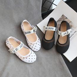sandalias tamaño niña grande Rebajas Zapatos del niño del otoño del resorte de la pajarita niños grandes chicas sandalias de Baotou dulce princesa ballet de los zapatos de bebé marrón tamaño 21-30