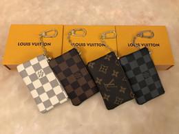2019 лондонский кошелек 4-Цвет ключевой мешок Дамье кожа сцепление с высокого качества известных классических дамы брелок монета сумка маленький кожаный ключевой бумажник не BOX6