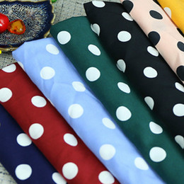 Tessuto chiffon elasticizzato Dot Chiffon decorativo giapponese e coreano Camicia elegante moda abbigliamento Tessuto chiffon cheap polka dot dress fabric da tessuto vestito da polka dot fornitori