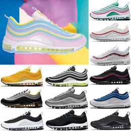 more photos 72702 5cbb6 2019 arcoiris blanco negro nike air max 97 Rainbow Mujer Hombre 97 Zapatos  para correr Zapatos
