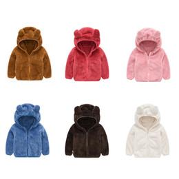 osos chaquetas para niños Rebajas Ropa de diseño para niños Niños y niñas Abrigo para niños Orejas de oso Cremallera Ropa exterior Ropa Chaquetas con capucha de lana para bebés Ropa M365