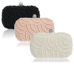 Sparkly Hot Cheap Crystal Pearls Fashion Bridal HandBags with Chain Women Wedding Evening Prom Party Clutches Bridesmaids Bags ? partir de fabricateur