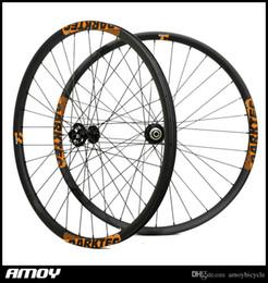 Bitex MTF15 MTR12 GREEN 15x100 12x142 QR hubs 32H MTB cyclocross front rear set