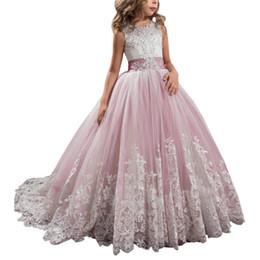 2019 красные белые полосатые дети платье 2019 европейская и американская детская одежда детская кружевная длинная юбка юбка розовое платье принцессы для моды сладкая девочка