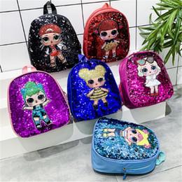mochilas de niños pequeños Rebajas Lindo bolsa Mochila Niño Niño de edad escolar para niñas personajes de dibujos animados de lentejuelas de la Escuela de mochila Niños Mochila Bolsa Escolar