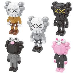 ziegel spielzeug armee Rabatt KAWS Blocks Kleinteile Bauklötze Actionfiguren Fake Blocks Spielzeug für Kinder 5 Farben