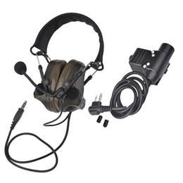 Auriculares comtac online-Z-TAC Airsoft Headset Comtac III Auriculares de reducción de ruido con PTT Kenwod Headset táctico Z051 + Z113