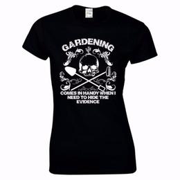 Tee donna 2019 da donna Funny Gardening Skull Bones Festa della mamma T Shirt Vendita calda 100% cotone O Neck T Shirt Casual Tee Shirt