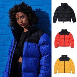 Veste orange en Ligne-Luxe Mens Designer Manteau feuilles Impression Parka Veste Hiver Hommes Femmes d'hiver plumes Pardessus Down Jacket Veste Manteau Taille S-XL