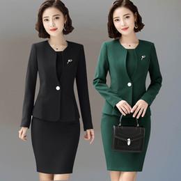 98ea3f50883 Women s female Formal Full dress jacket suits formal dresses for office lady  Jacket Dress ladies blazer costumes suits set