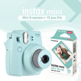 Instax Mini 9 Caméra Instantanée Bleu Instantané Appareil Photo Impression de Photos Avec 10 Feuilles Bleu Ciel Mini Film Papier Cadeau Ensemble ? partir de fabricateur