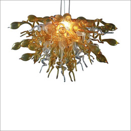 Envío gratis boca soplada 110 v / 120 v bombillas LED diseño de arte esmerilado soplado a mano vidrio de Murano luces de techo diseñador desde fabricantes