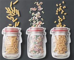 kerosinofen Rabatt Einmachglas-Art-Reißverschluss-Speicher-Nahrungsmittelbewahrungs-Beutel Frischhaltebeutel für Keks-Imbisse Kinderlebensmittel-Wandern und Kampieren