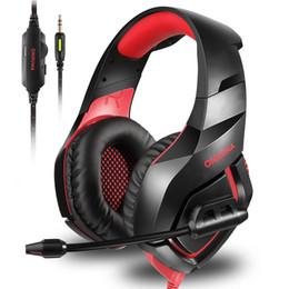 ONIKUMA K1S Casque De Jeu Bandeau Sur-l'oreille Stéréo Casque Avec Micro Jeu D'écouteur pour PS4 Xbox One PC Musique Mobile Écouteurs ? partir de fabricateur