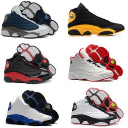 Canada 2019 Chaussures de basket-ball pour hommes 13 Atmosphère Brise Classe de remise des diplômes de classe de gris 2002 Sport Sneaker Hyper Royal Chat noir avec boîte supplier black mens basketball shoes Offre