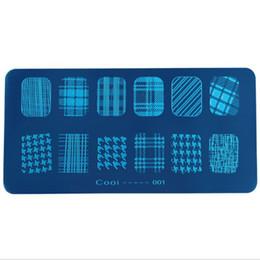 Motif d'art d'ongle print en Ligne-Modèles de bricolage Outils de bricolage Nail Art Tools Template d'impression DIY Plaque d'impression rectangulaire en film polonais polonais