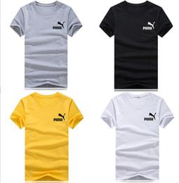 524ffc5ccb9712 Großhandel Sommer T-shirts für Männer Frauen Kurzarm Marke Kleine logo  Shirt Sommer Lässige Paar Mens Kleidung Mode Flut Brief Druck günstig männer  lycra t- ...