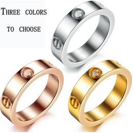 Rose männer ringe online-Neue Ankunft Titan Stahl Ring Rose Gold Paar Ring Bague Schraubendreher Modeschmuck Herrenringe-Beispiel