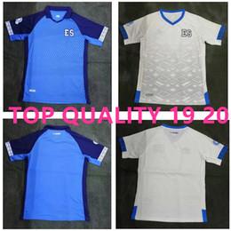 19 20 El Salvador Camisas de Futebol longe de casa Nelson Bonilla ceren 2019 Taça de Ouro Azul Camisa de Futebol Branca Uniforme da Seleção Nacional tailândia de