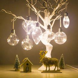 2019 luce dell'albero di simulazione Natale lampadina Simulazione Lampadina Illuminazione dell'albero di Natale a sospensione a forma di animali filamento palla appesa su Xmas Tree Decoratio sconti luce dell'albero di simulazione