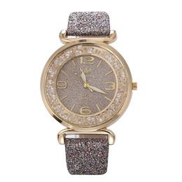 Argentina Reloj de la correa de textura de arena molida y venta directa del fabricante Número de medidor de diamante Quicksha de Lady Suministro