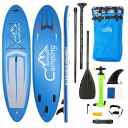 Soportar inflable online-11 'Adulto inflable SUP Stand Up Paddle Board Azul con tres Pulp + Pumprepair kit EE. UU. Envío gratis