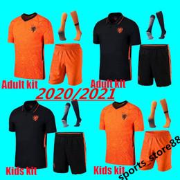 ko Rabatt Erwachsene und Kinder-Kit 2020 2021 Holland Fußball-Kits Shirt 20 21 DE JONG VIRGIL PROMES MEMPHIS gesetzt Trikots Niederlande Fußball Uniformhemden