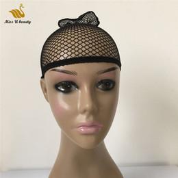 Nylon di pesci neri neri online-Capelli Fishnet protezione della parrucca netto Per parrucche Neri Biondi Tessitura Cap per indossare parrucche Snood Mesh Cap Nylon
