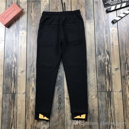 b9aeacdd5a6cc8 19ss Paris FEND monsters Stripe FF ROMA 1925 Pants elastic waist track  Trousers Casual sport Jogger Sweatpants Outdoor Short Shorts gore tex pants  for sale