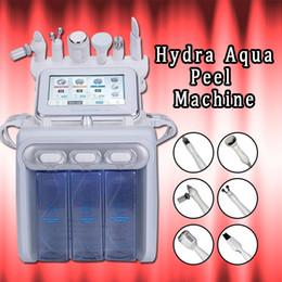 2019 martillo de ultrasonido 2019 Nuevo Hydra Water Facial Cleaner Aqua Peel Ultrasonido Microcorriente BIO Cold Hammer H2O2 Spray Gun rebajas martillo de ultrasonido